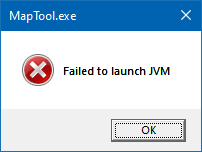 JVM launch error